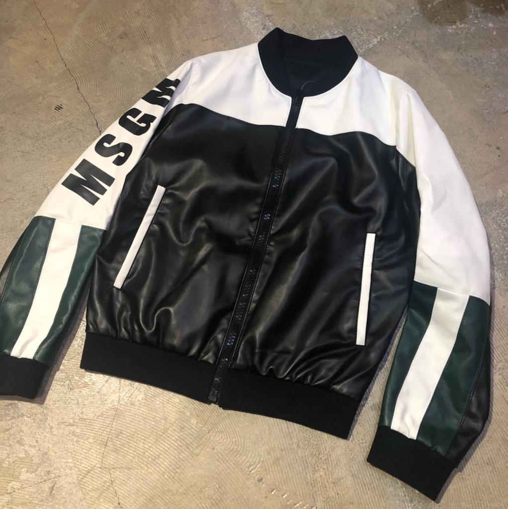 MSGM 17SS ロゴデザインボンバージャケット