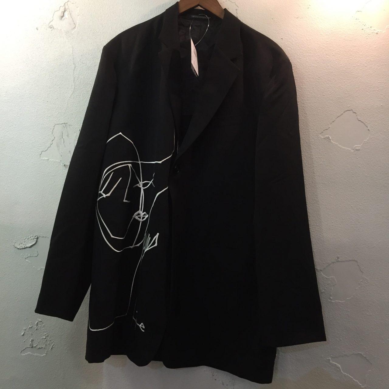 Yohji Yamamoto POUR HOMME 16AW rie刺繍ウールギャバジャケット 2