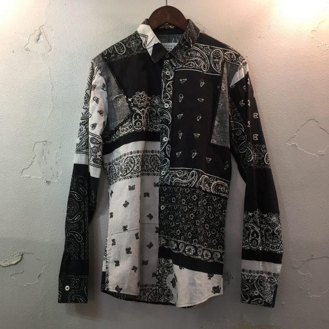 Maison Martin Margiela 10 12SS ペイズリー柄バンダナパッチワークシャツ 44