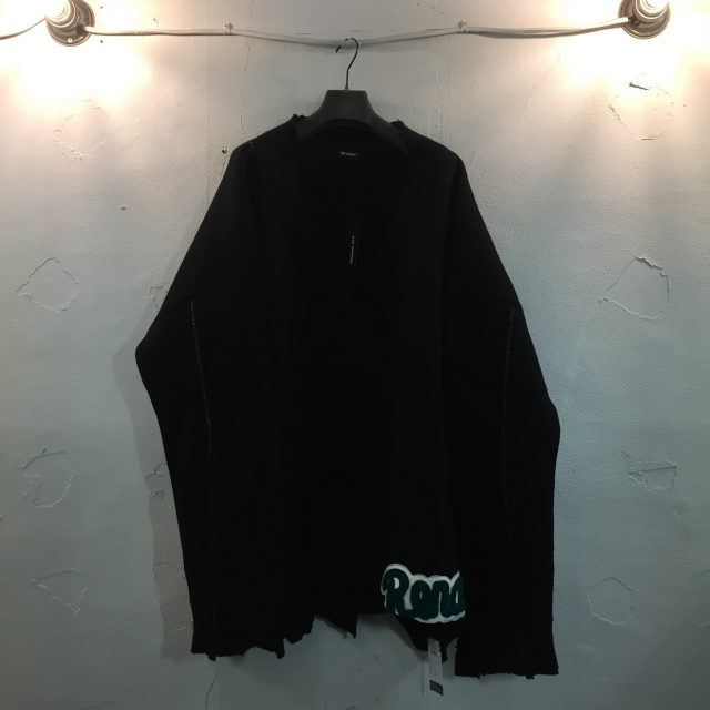 RAF SIMONS 16AW OVERSIZED AND DESTROYED V NECK KNIT