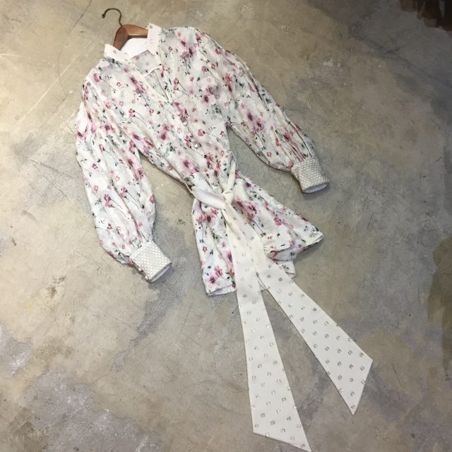 Mame Kurogouchi 17SS Cherry Blossom Motif Jacquard Jumpsuit