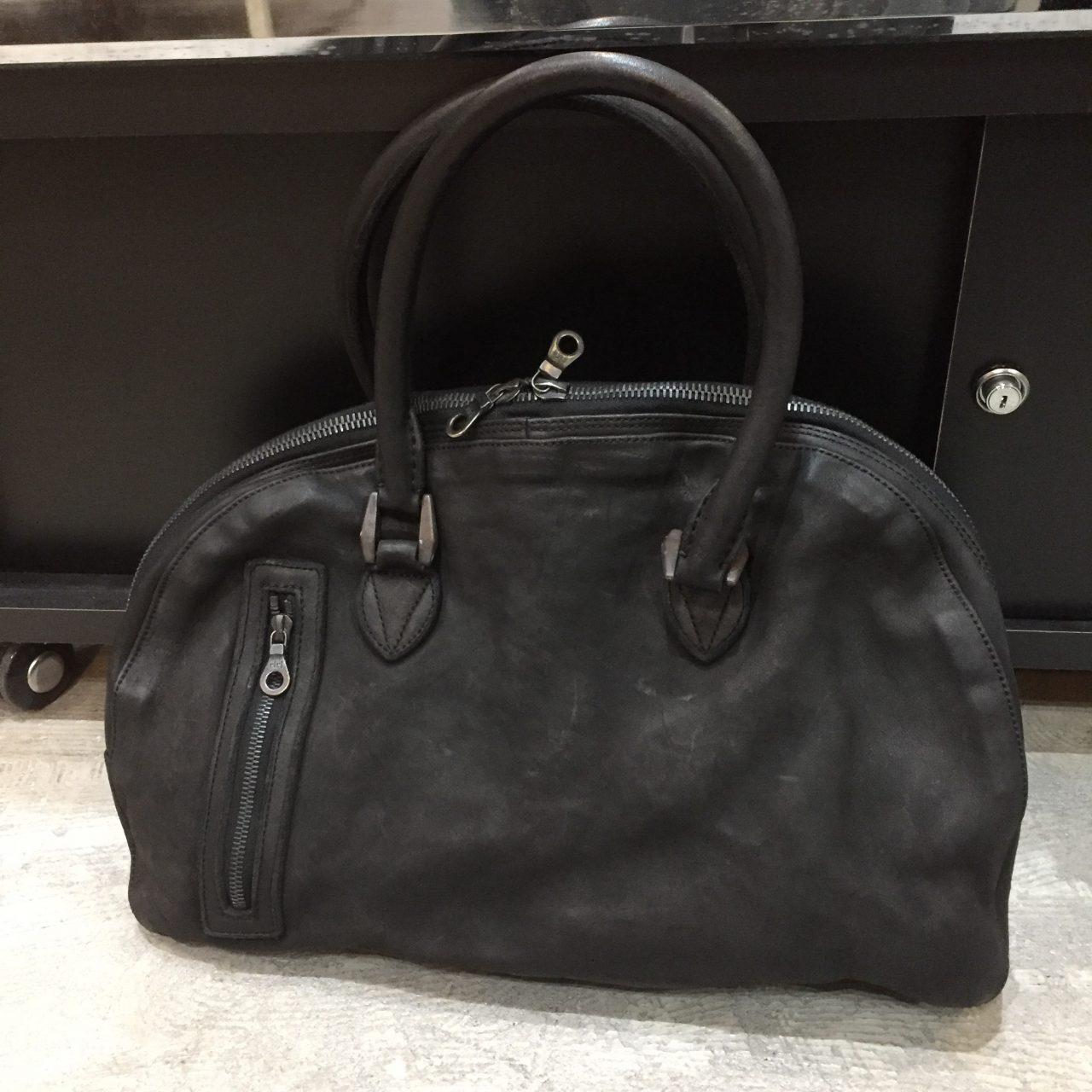 ISAMU KATAYAMA BACKLASH ジャパンステアタンニン製品染めボストンバッグ