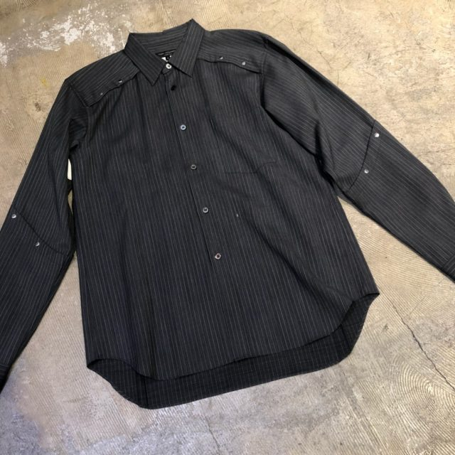 COMME des GARCONS HOMME PLUS 16AW 甲冑スタッズストライプシャツ