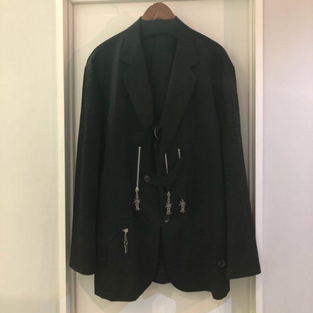 Yohji Yamamoto POUR HOMME 18SS LOOK29 シワギャバテント布ファスナージャケット