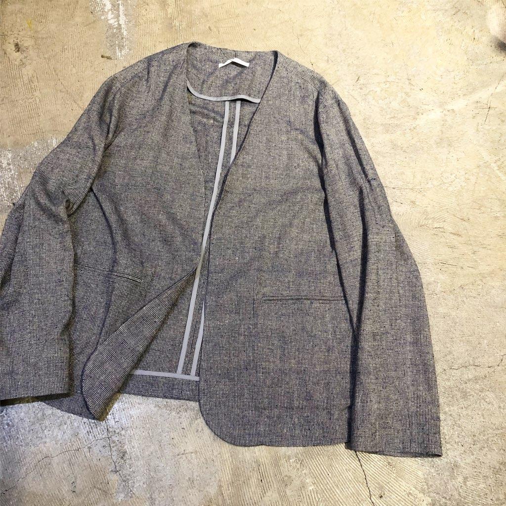 Seya. 19SS シルクツイードノーカラージャケット