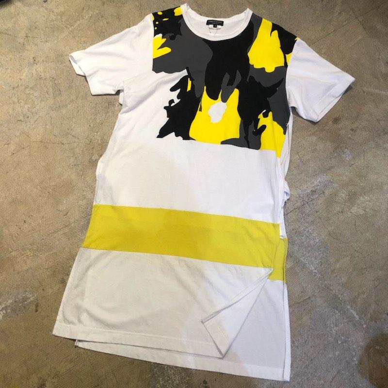 COMME des GARCONS HOMME PLUS 17AW サイドベルトカモフラージュロングTシャツ