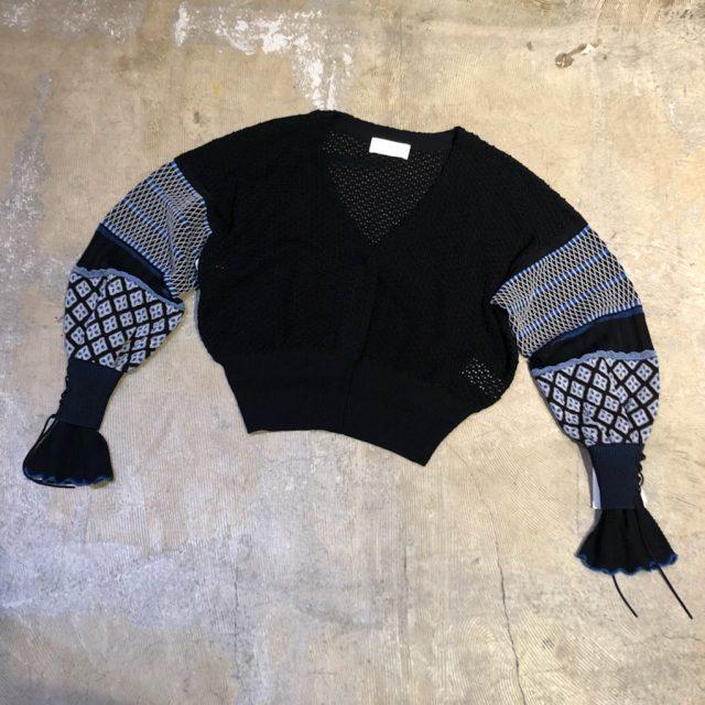 Mame Kurogouchi 19AW Volume Sleeve Knit Cardigan