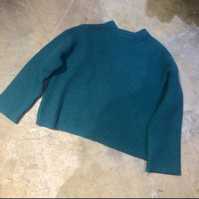 UNUSED 17AW 3G CREW NECK KNIT