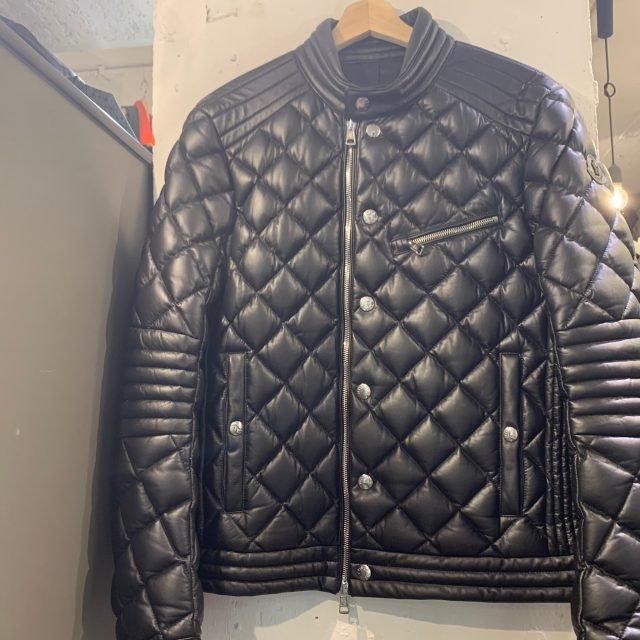 MONCLER 18AW AURIAC Leather down riders