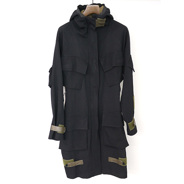 DRIES VAN NOTEN Multipocket Hooded Coat