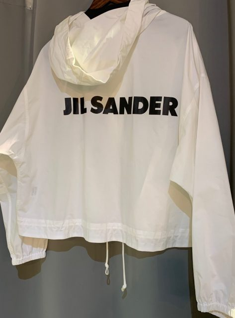 JIL SANDER Back Logo Print Concealed Windbreaker