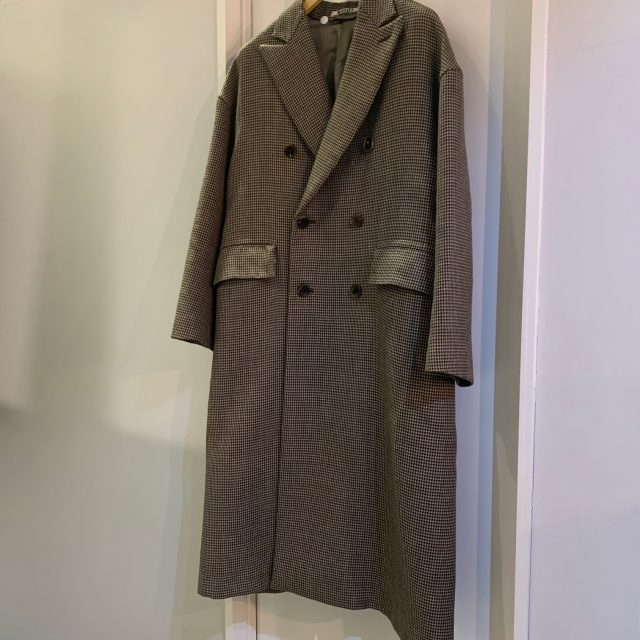 AURALEE 18AW Double Face Check Double Breasted Coat
