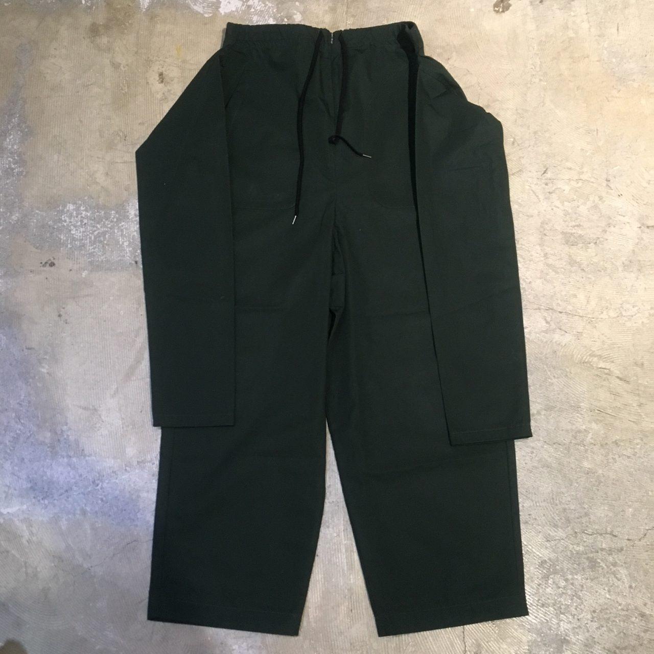 ohta 18SS Dark green maki pants