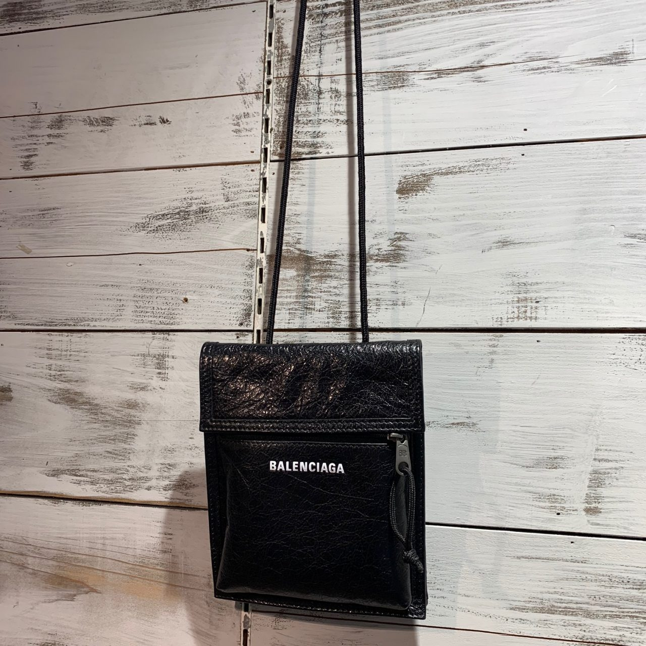 BALENCIAGA Explorer Leather Pouch Strap Bag