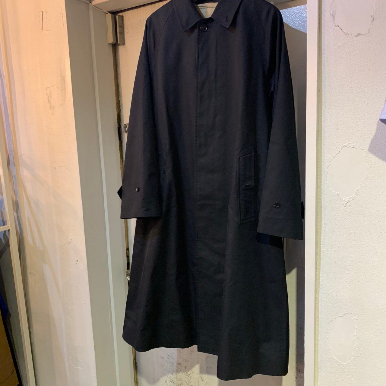 AURALEE 19SS COTTON SILK GABARDINE LONG SOUTIEN COLLAR COAT