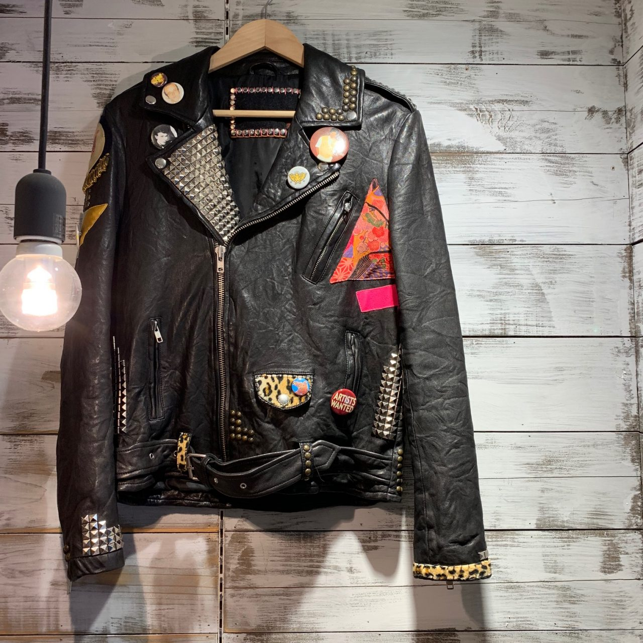 FREE CITY 18AW MOTORCYCLE LEATHER JACKET スタッズバッジダブルレザーライダース