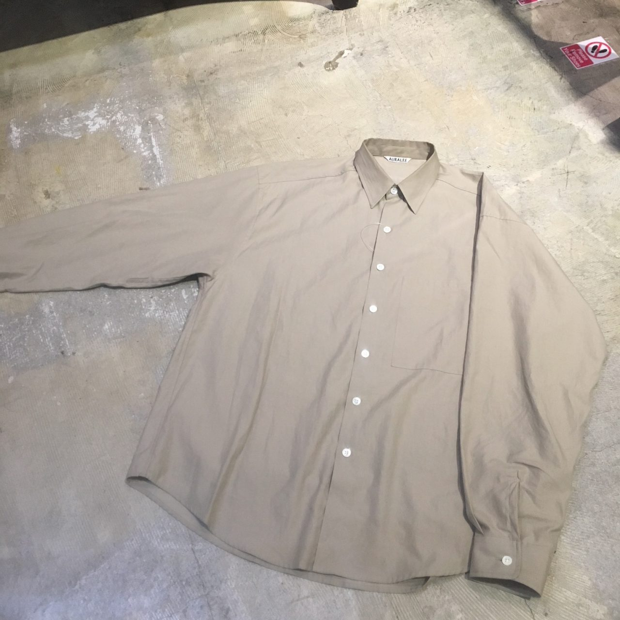 AURALEE 18SS WASHED FINX TWILL BIG SHIRTS