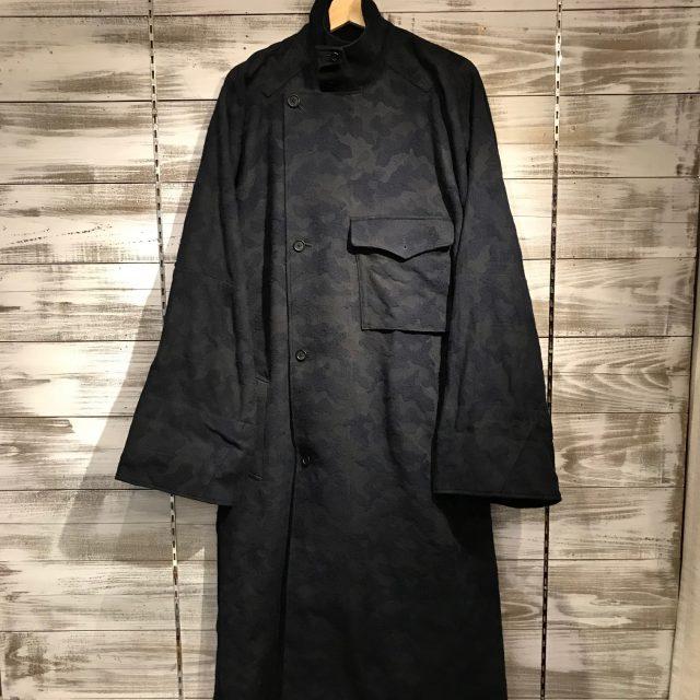 Yohji Yamamoto POUR HOMME 17AW LOOK37 カモフラージュスタンドカラードルマンコート