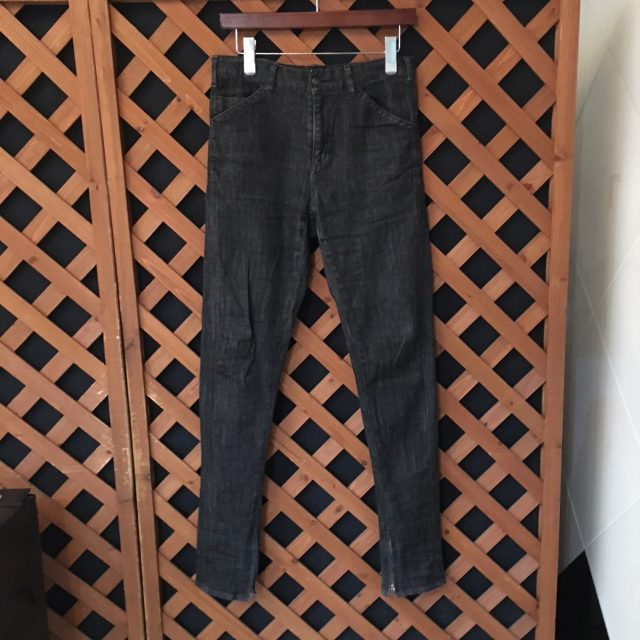 FranCisT_MOR.K.S Strecth Denim Washed Zip-up Hem 2way 5P Pants