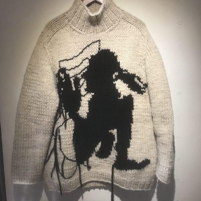 Yohji Yamamoto POUR HOMME 17AW 手編みほつれ加工侍ニットセーター