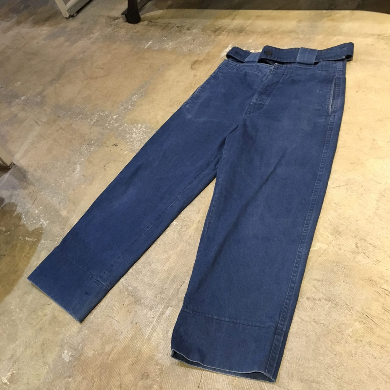 MARNI 17SS Belted Wide Denim Pants