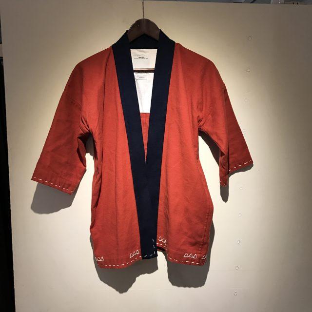 VISVIM 17SS SANJURO KIMONO (WOOL/LINEN) RED