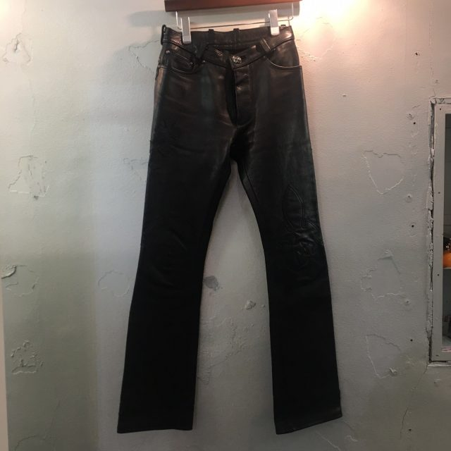 CHROME HEARTS Crosspatch Custom Leather Pants