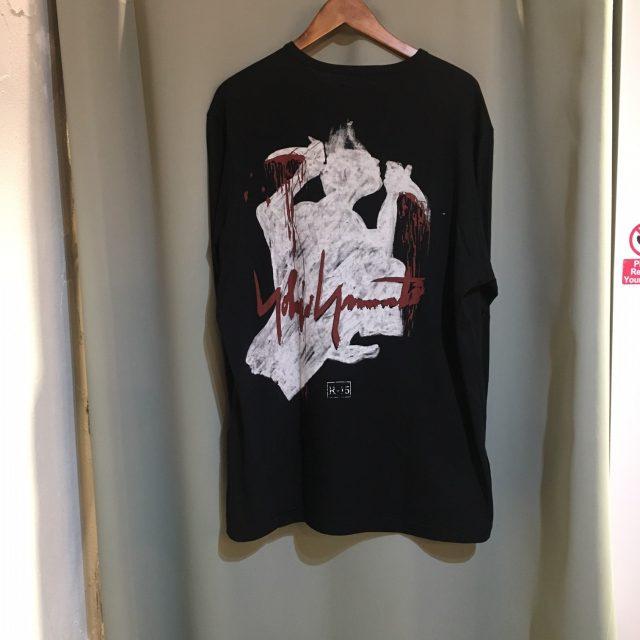 yohji yamamoto POUR HOMME 17AW SAMURAI Print Long Sleeve T-shirt