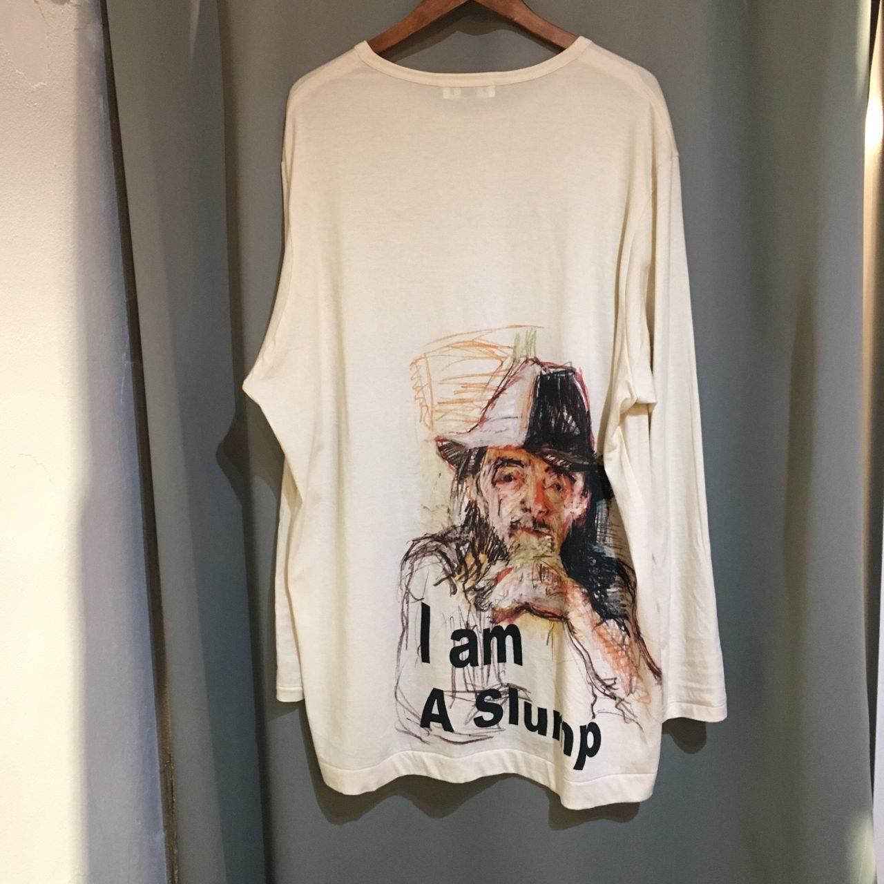 17SS Yohji Yamamoto POUR HOMME I am A Slump Long Sleeve T-shirts