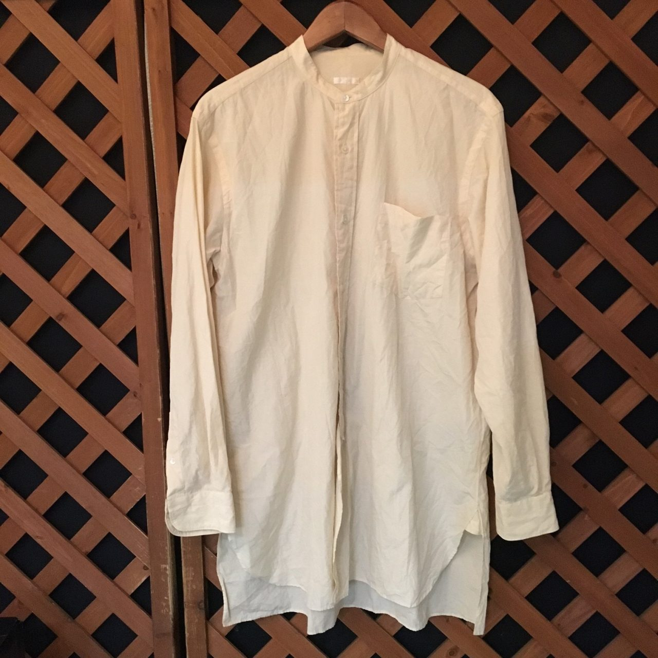 17SS COMOLI Band Collar Shirt