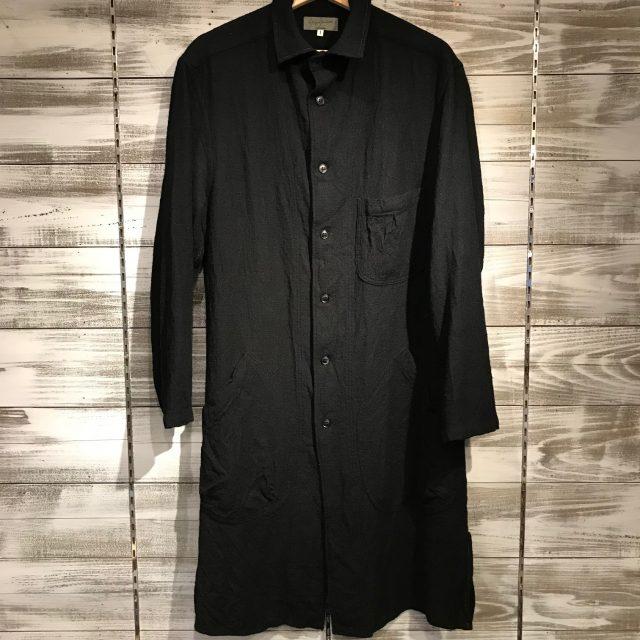 Yohji Yamamoto POUR HOMME 15AW W-Wスプレットウール縮絨加工ロングシャツ