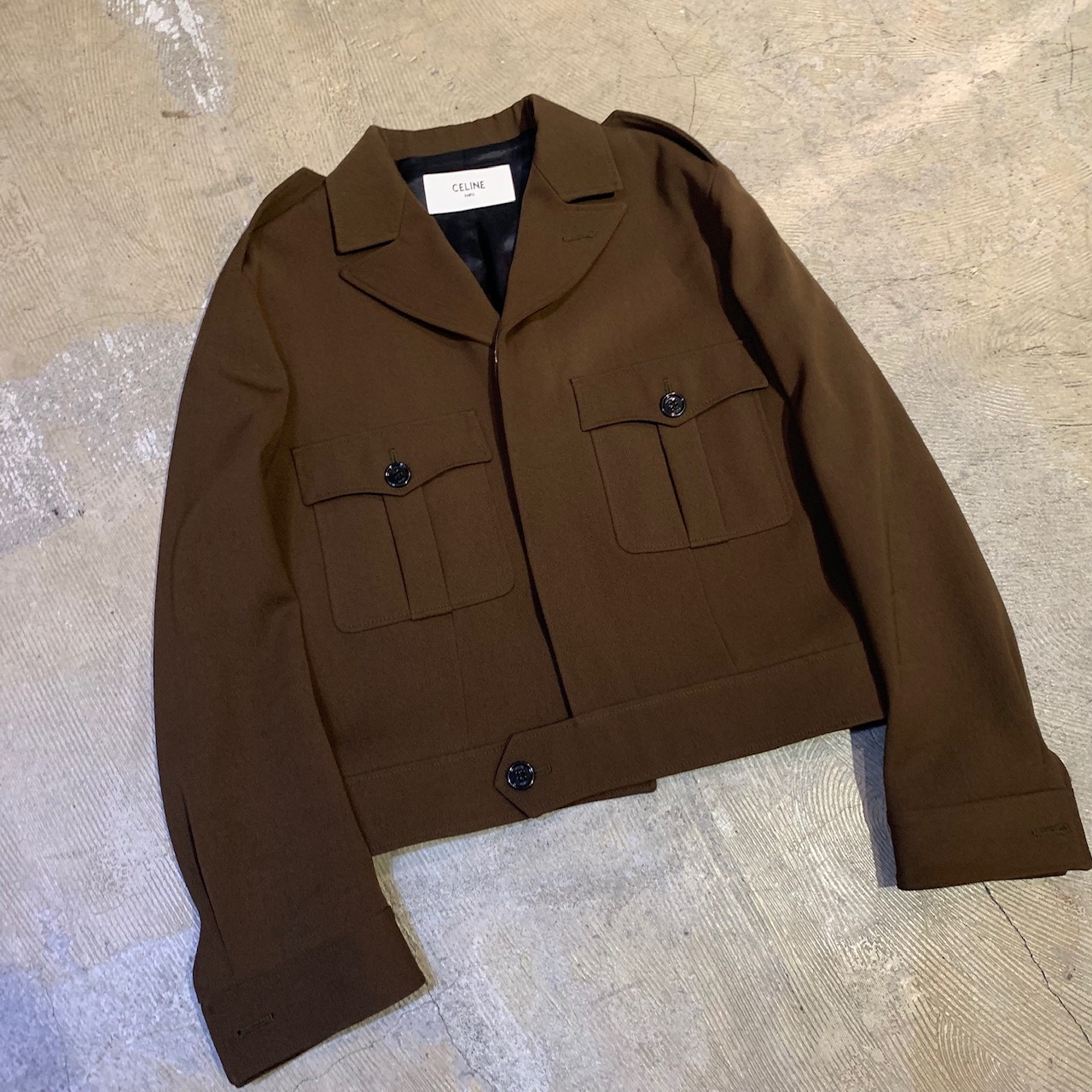 CELINE 19SS AVIATOR JACKET IN WOOL AND POLYESTER GABARDINE